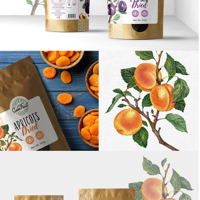 Packaging design for dried fruits and berries
