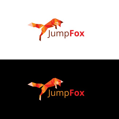 Triangle design with the title 'Logo Design for JumpFox'