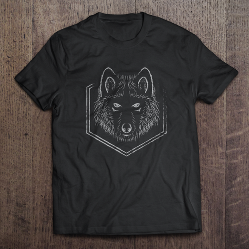 Wolf t-shirt with the title 'Wolf vector proposal for Luawai T-shirt'