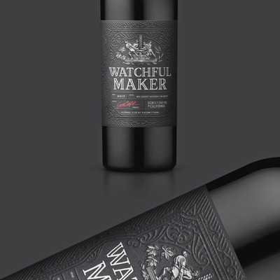 Watchful Maker Wine Label Design