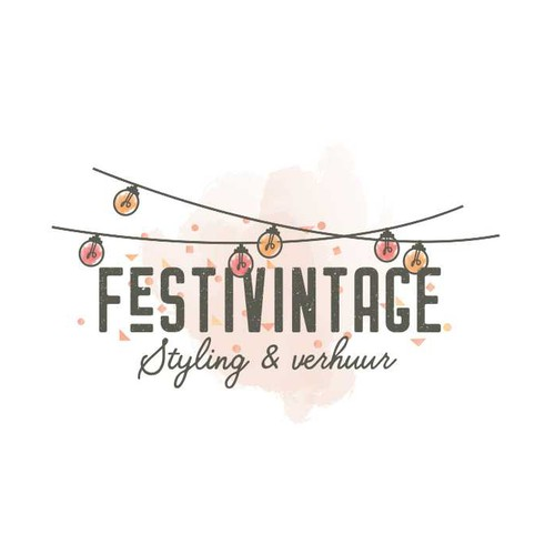 Wedding logo with the title 'FESTIVINTAGE'
