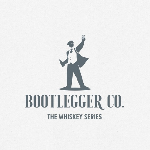 Whiskey bottle logo with the title 'Logo for whiskey subscription service'