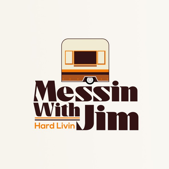 Camper or caravan logo with the title 'Messin Whith Jim'