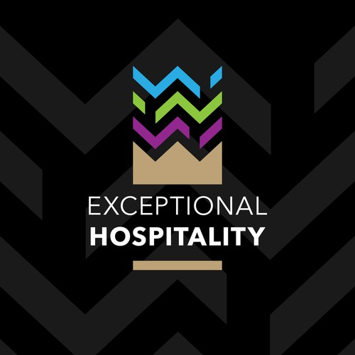Hospitality design with the title 'Logo for a hospitality management'