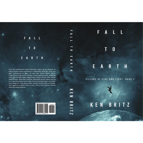 """Space design with the title '""""Fall to Earth""""'"""