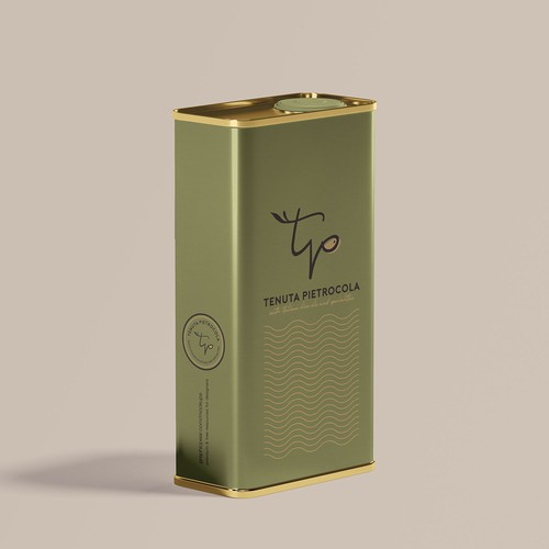 Olive oil logo with the title 'Logo for TENUTA PIETROCOLA'