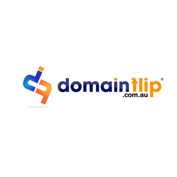 Flip logo with the title 'Logo design for Domainflip.com.au'