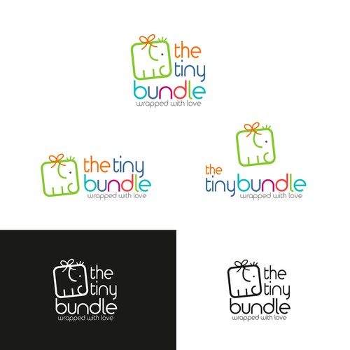 Joyful design with the title 'The Tiny Bundle'