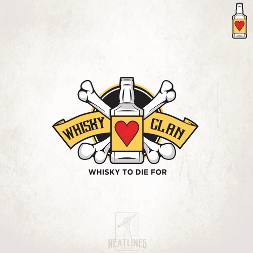 Bourbon logo with the title 'Whisky Clan'