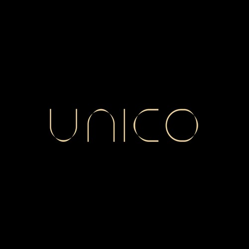 Restaurant design with the title 'Custom made wordmark for UNICO.'