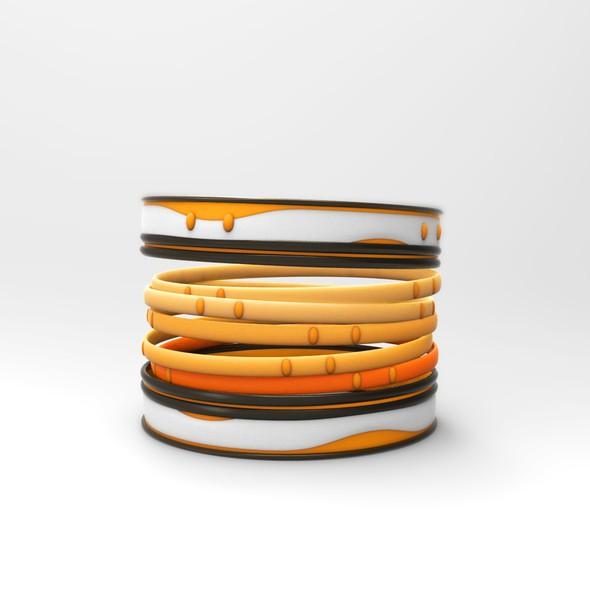 Bracelet design with the title 'Bangle set design'