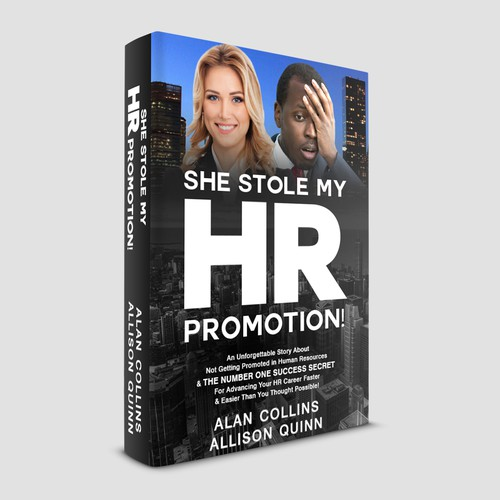 Aesthetic design with the title 'She Stole My HR Promotion'