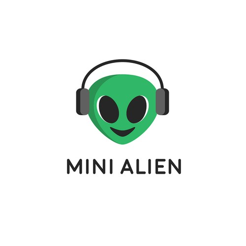 Earphone logo with the title 'Mini Alien'