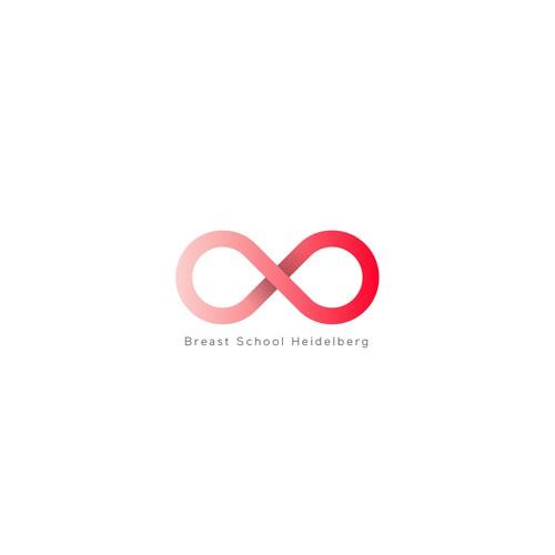 "Breast logo with the title '""Breast School Heidelberg"" logo'"