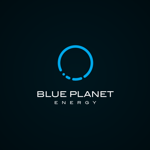 Planet logo with the title 'Blue Planet Energy'