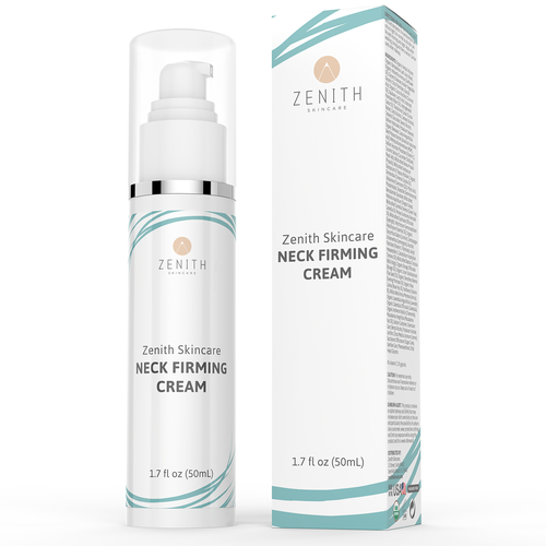 Cream design with the title 'Product label and box for Zenith Skincare'