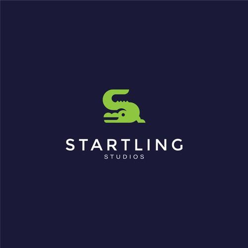 Studio design with the title 'Crocodile Logo concept '