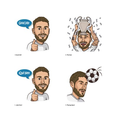 Sergio Ramos stickers