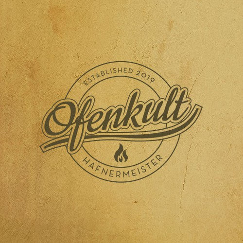 Craftsmanship logo with the title 'Ofenkult'