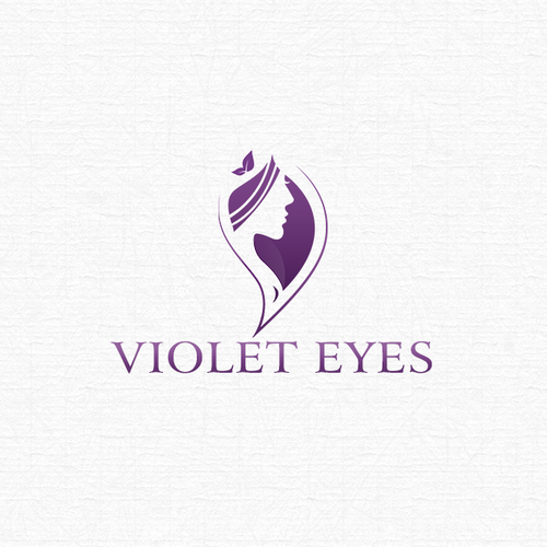 Violet logo with the title 'Elegant and organic logo for a beauty salon'
