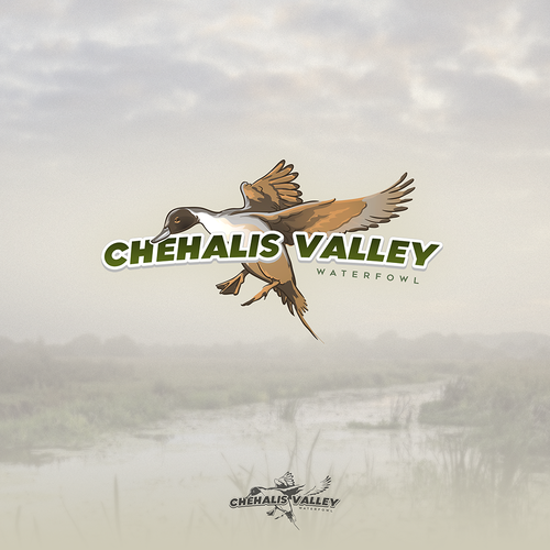 Valley design with the title 'chehalis valley waterfowl logo design'
