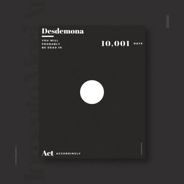 Life artwork with the title 'Minimalist design concept for Momento Mori'