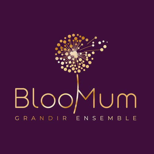 Bloom design with the title 'BlooMum Logo design'