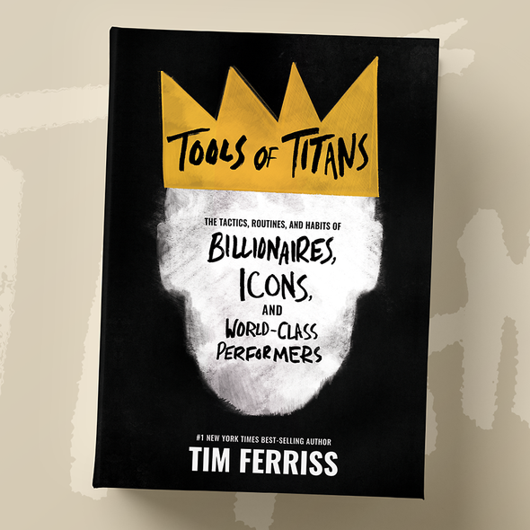 Handmade book cover with the title 'Tools of Titans'