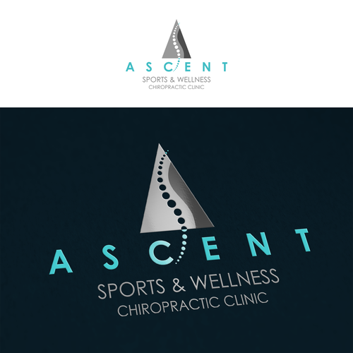 Chiropractic logo with the title 'ASCENT'