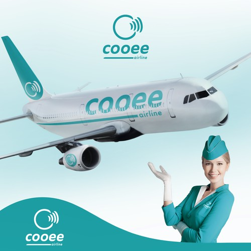 Aircraft logo with the title 'logo for airline company'