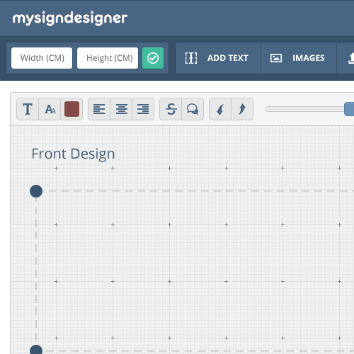 Interface design with the title 'Design Tool Interface'
