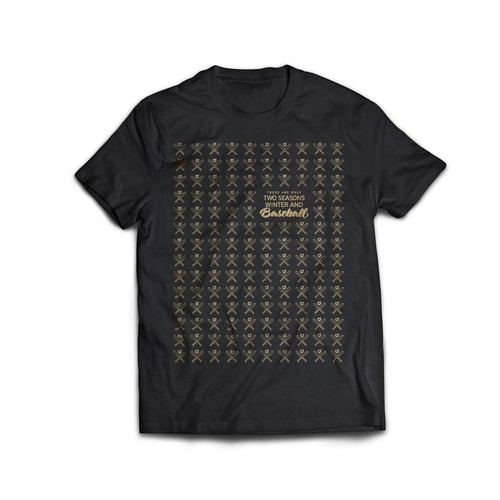 Pattern t-shirt with the title 'Baseball theme shirt'