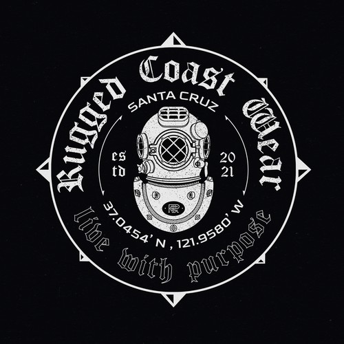 Underwater logo with the title 'Rugged Coast Wear '