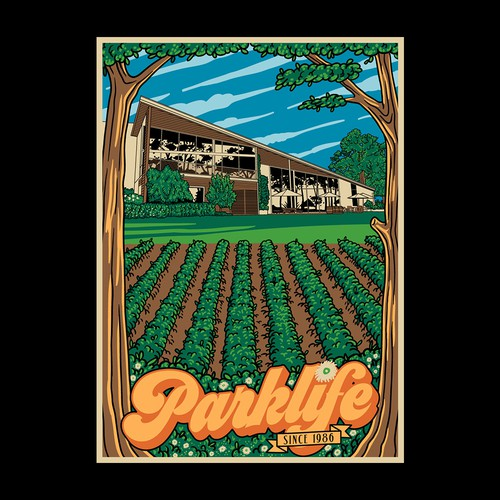 Agriculture t-shirt with the title 'Parklife'