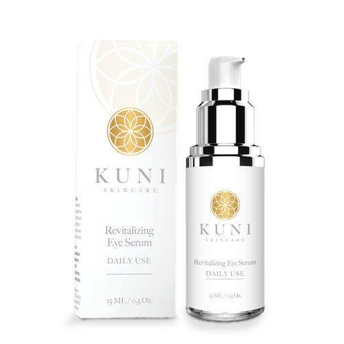 Serum packaging with the title 'Kuni SkinCare Packaging'