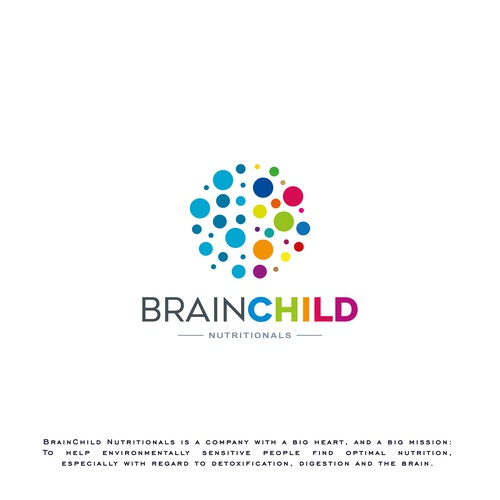 Disease awareness logo with the title 'Brain Child'