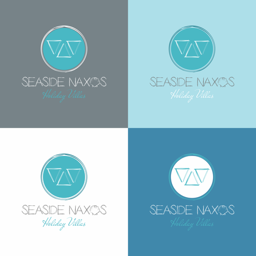Seashell logo with the title 'Logo for Greek Holiday Villas '