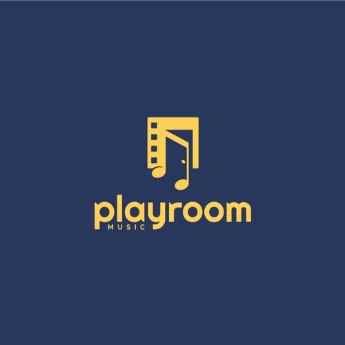 Playful brand with the title 'logo for new music library'