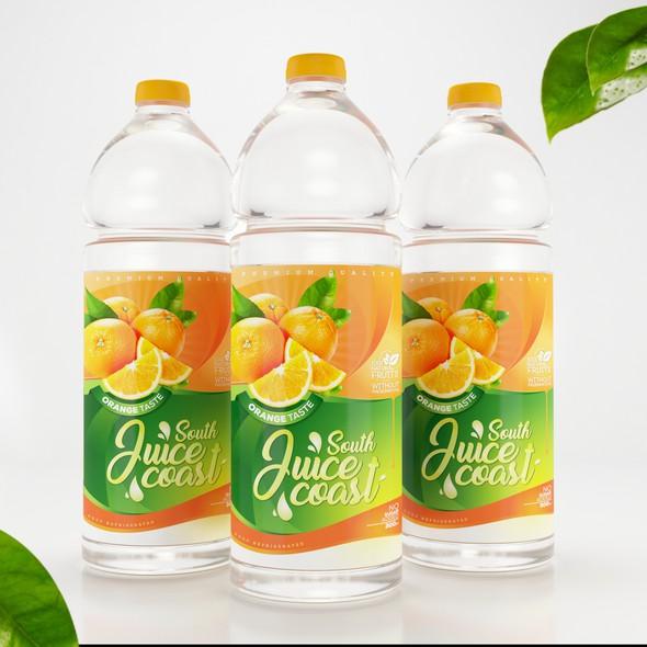 Orange and green design with the title 'Orange Juice'