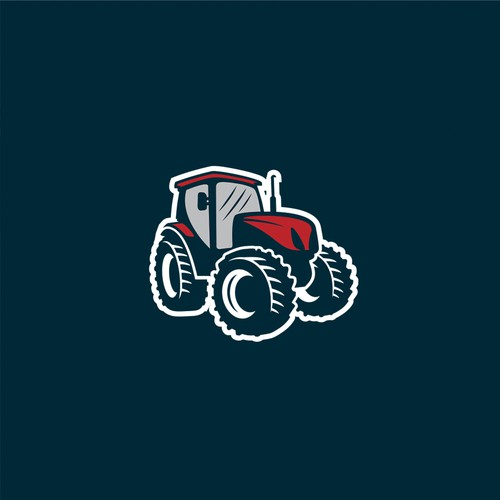 Tractor design with the title 'Tractor logo'