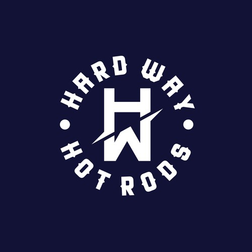 American vintage logo with the title 'Winner of HardWay HotRods Contest'