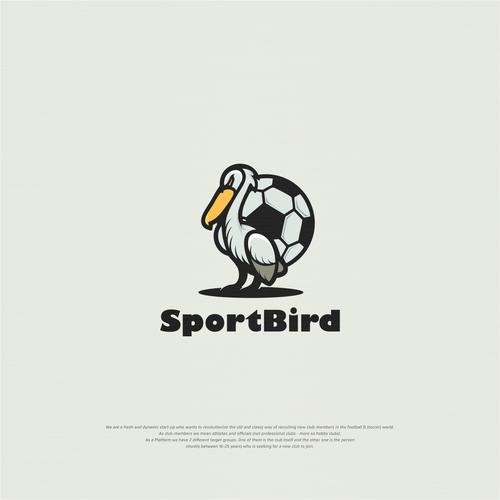 Pelican logo with the title 'Sportbird'