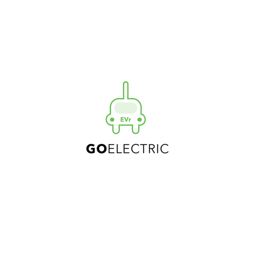 Electrical logo with the title 'Logo design concept for electric car company'