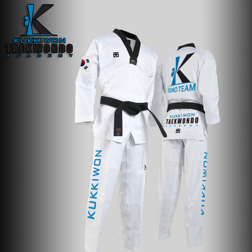 Taekwondo design with the title 'Kukiwon Uniform Concept'