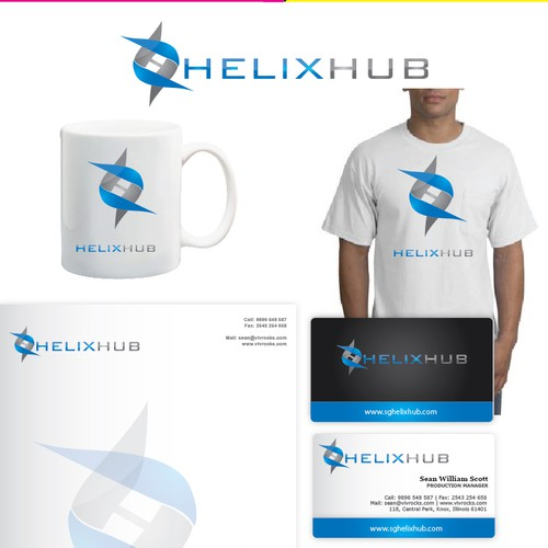 Biotech logo with the title 'Create the next logo for HelixHub'