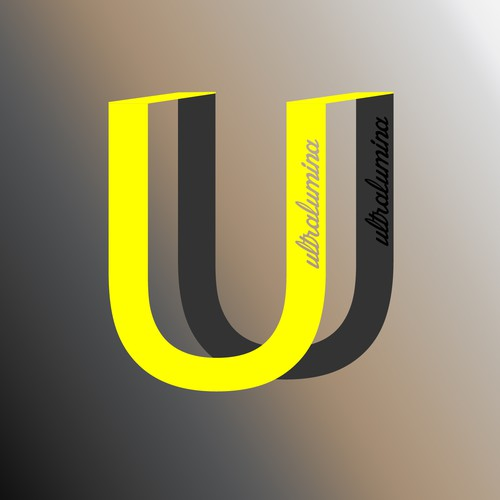 Cut out logo with the title 'Logo design  U'