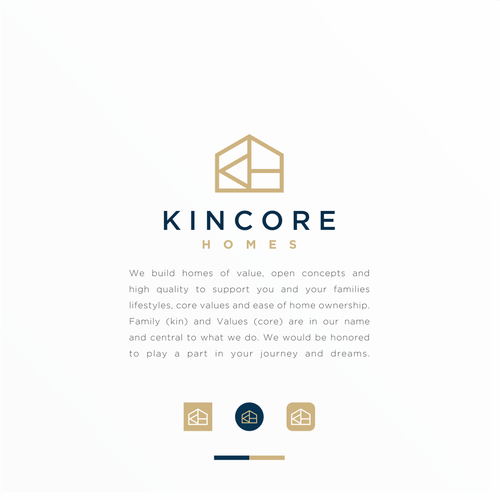 Building brand with the title 'Kincore Homes'