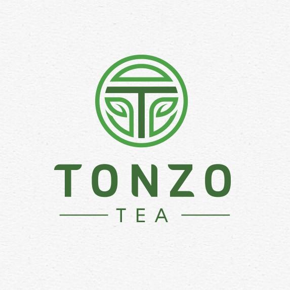 Bubble tea design with the title 'Tonzo Tea logo'