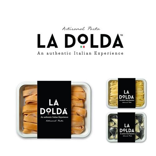 Pasta design with the title 'la dolda'