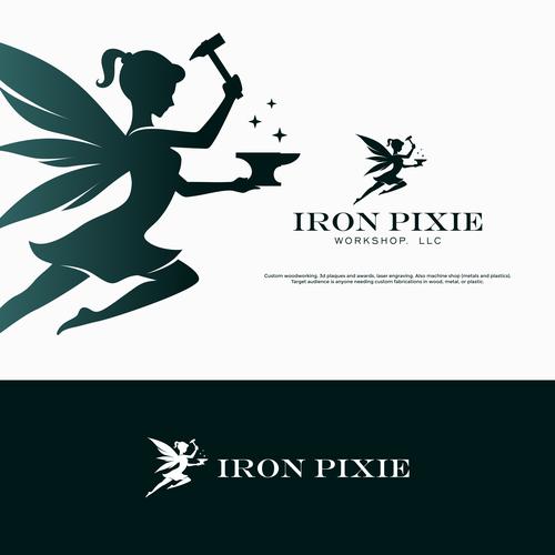 Blacksmith design with the title 'Iron Pixie'